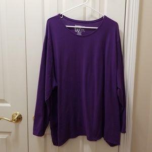 Just My Size purple shirt sz 5X (30/32W)